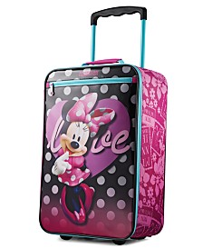 """Disney Minnie Mouse 18"""" Softside Rolling Suitcase By American Tourister"""