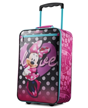 Disney Minnie Mouse 18 Softside Rolling Suitcase By American Tourister