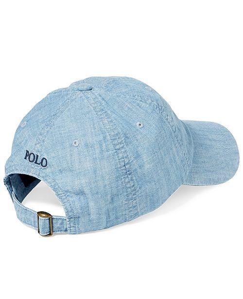 9a8fdbc3056 Polo Ralph Lauren Men s Chambray Sports Cap   Reviews - Hats