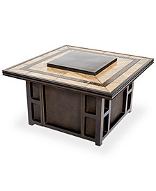 Wyndham Square Fire Pit Top and Base, Created for Macy's