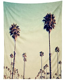 Deny Designs Bree Madden California Palm Trees Tapestry