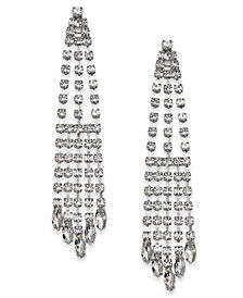 Nina Silver-Tone Crystal Chandelier Earrings