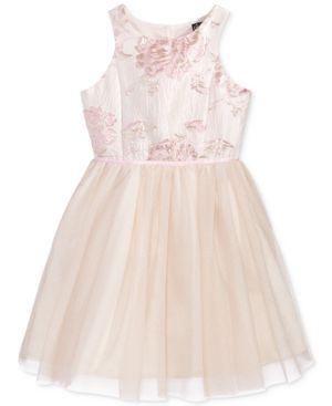 Pink & Violet Brocade Ballerina Dress, Big Girls (7-16) 4598768