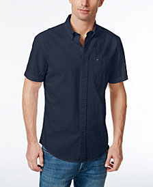 Tommy Hilfiger Men's Jackson Seersucker Short-Sleeve Shirt, Created for Macy's