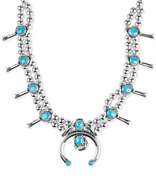 Genuine Turquoise (23-5/8 ct. t.w.) Beaded Statement Necklace in Sterling Silver