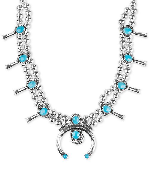 American West Genuine Turquoise (23-5/8 ct. t.w.) Beaded Statement Necklace in Sterling Silver