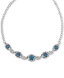 Blue Topaz Statement Necklace (10-3/4 ct. t.w.) in Sterling Silver