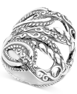 """""""Lasting Connections"""" Openwork Statement Ring in Sterling Silver Jewelry & Watches Fine Jewelry - Rings"""