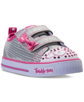 Skechers Toddler Girlsu0027 Twinkle Toes Shuffles Itsy Bitsy Light-Up Sneakers from Finish  sc 1 st  Macyu0027s & Skechers Toddler Girlsu0027 Twinkle Toes: Shuffles Itsy Bitsy Light-Up ... azcodes.com