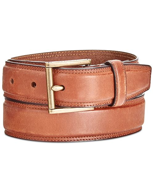 Cole Haan Men's Stitched Leather Belt