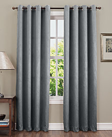 "CLOSEOUT! Sun Zero Collins Crushed Solid Room Darkening Woven Curtain 50"" x 84"" Panel"