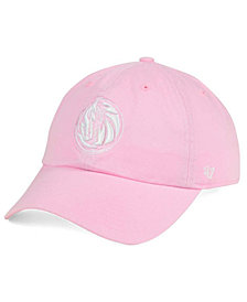 '47 Brand Women's Dallas Mavericks Petal Pink CLEAN UP Cap