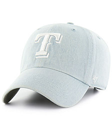 '47 Brand Texas Rangers All Denim Clean Up Cap