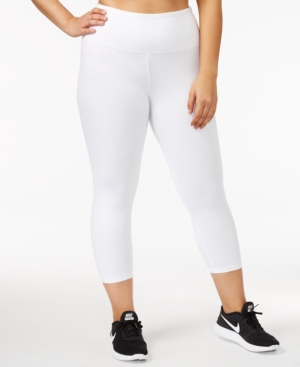 Style & Co Plus Size Tummy-Control Yoga Leggings, Created for Macy's