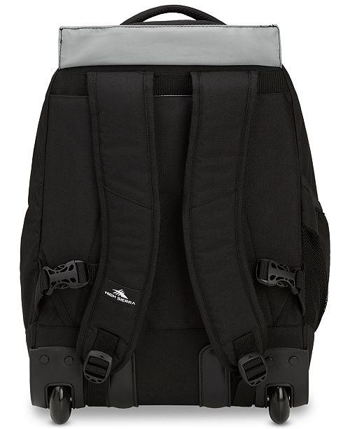 High Sierra Chaser Wheeled Backpack - Backpacks - Luggage - Macy s 258bfe4c54bcf