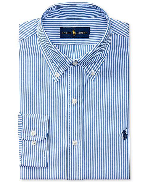 Polo Ralph Lauren Pinpoint Oxford Blue Stripe Dress Shirt