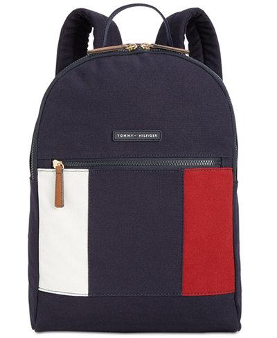 tommy hilfiger th flag small backpack handbags. Black Bedroom Furniture Sets. Home Design Ideas