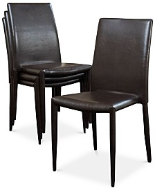Orlow Set of 4 Stacking Chairs, Quick Ship