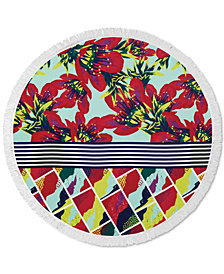 CLOSEOUT! Lamont Bonfire Bay Summer Blossoms Round Beach Towel