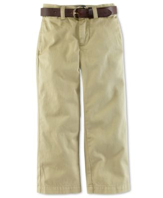 Image of Ralph Lauren Boys' Suffield Flat-Front Pants, Big Boys 8-20