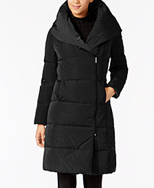 Cole Haan Petite Asymmetrical Down Puffer Coat