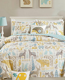 INK+IVY Kids Woodland 4-Pc. Full/Queen Duvet Cover Set