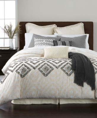 martha stewart collection rough diamond 10pc california king comforter set created for - Cal King Comforter Sets