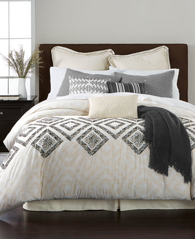 CLOSEOUT! Martha Stewart Collection Rough Diamond 10-Pc. Comforter Sets, Created for Macy's