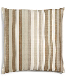 "LAST ACT! Hallmart Collectibles Beige Atlantic Stripe Textured 18"" Square Decorative Pillow"