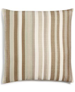 "Last Act! Hallmart Collectibles Beige Atlantic Stripe Textured 18"" Square Decorative Pillow 4690604"