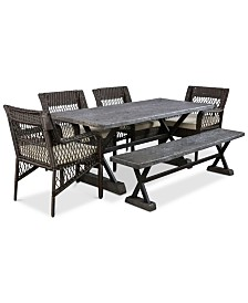 Zianette 6-Pc. Outdoor Dining Set, Quick Ship