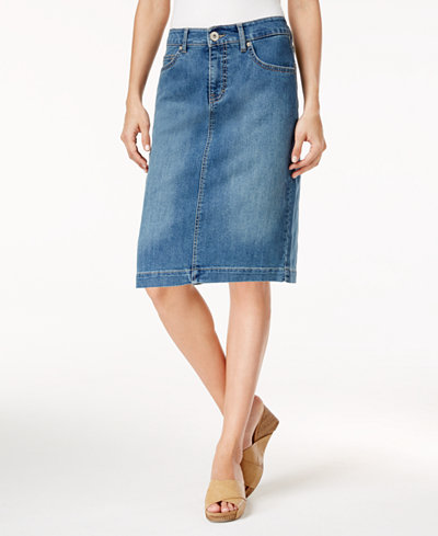 Style & Co Denim Skirt, Created for Macy's - Skirts - Women - Macy's