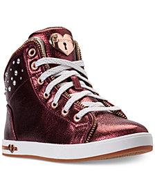 Skechers Big Girls'  Shoutouts - Ritzy Zips High Top Casual Sneakers from Finish Line
