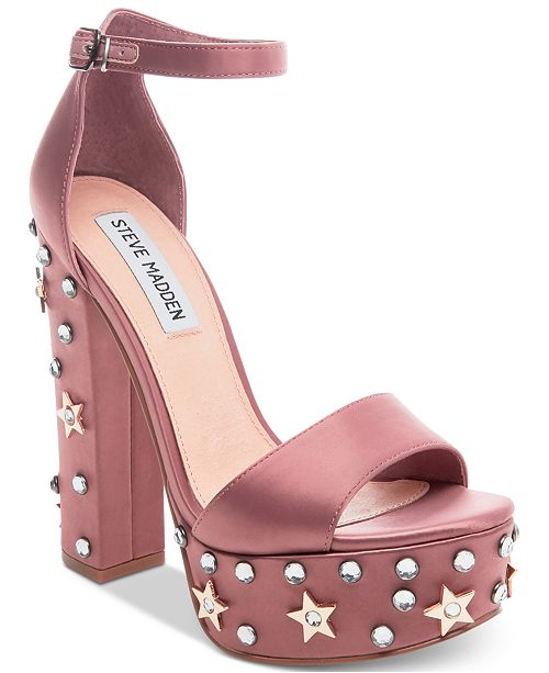 3551fa0c586 Steve Madden Women s Glory Two-Piece Platform Sandals   Reviews ...