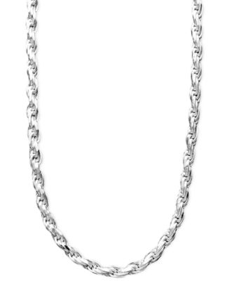 "Image of Giani Bernini Sterling Silver Necklace, 16"" Diamond Cut Rope Chain"