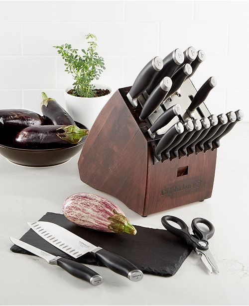 Calphalon Contemporary Sharpin Self Sharpening 20 Piece Cutlery Set
