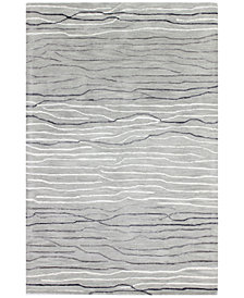 "Kenneth Mink Waves 5'6"" x 8'6"" Area Rug, Created for Macy's"