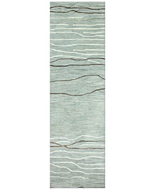 "CLOSEOUT! Waves 2'6"" x 8' Runner Area Rug"