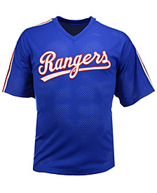 Mitchell & Ness Men's Nolan Ryan Texas Rangers Authentic Mesh Batting Practice V-Neck Jersey