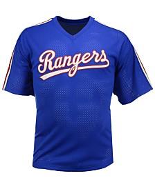Mitchell & Ness Men's Nolan Ryan Texas Rangers Authentic Mesh Batting Practice V-Neck Jersey