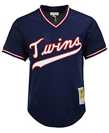 Mitchell & Ness Men's Kirby Puckett Minnesota Twins Authentic Mesh Batting Practice V-Neck Jersey