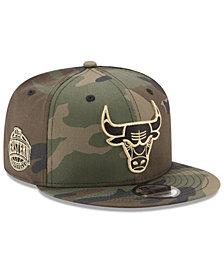 New Era Chicago Bulls Metallic Woodland 9FIFTY Snapback Cap