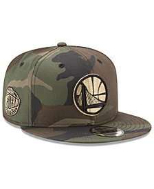 New Era Golden State Warriors Metallic Woodland 9FIFTY Snapback Cap