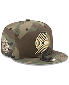 New Era Portland Trail Blazers Metallic Woodland 9FIFTY Snapback Cap