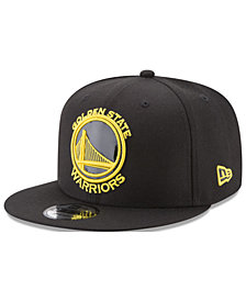 New Era Golden State Warriors Patent Blackout 9FIFTY Snapback Cap