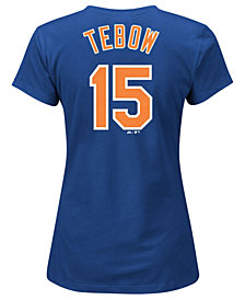 Majestic Women's Tim Tebow New York Mets Crew Player T-Shirt