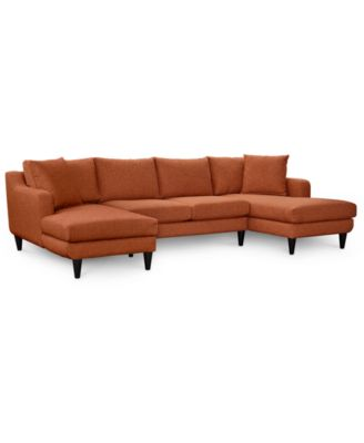 Nario 3 Pc. Double Chaise Sectional Sofa, Created For Macyu0027s