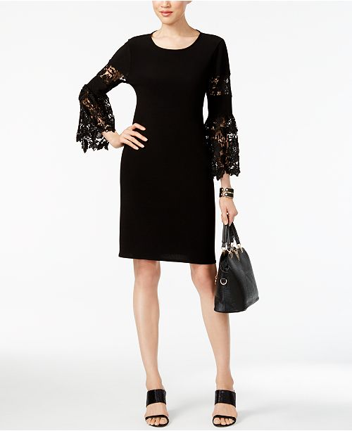 e8bca69070 Alfani Lace-Sleeve A-Line Dress
