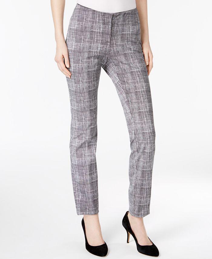 Alfani - Petite Printed Skinny Pants