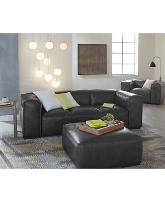 Closeout! Emanci Leather Sofa Collection - Furniture - Macy'S